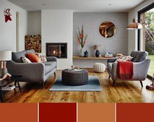 Decor interior ruginiu portocaliu