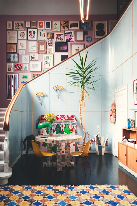 Decor maximalist hol intrare